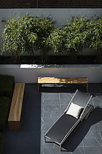 Compact, contemporary town garden patio in the Islington area of North London, UK, designed by Modular - 14151-50-1