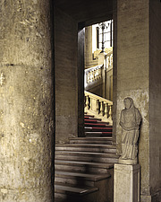 Staircase, 1645-1648, in the Spanish Embassy to the Holy See, Piazza di Spagna, Rome - 37-80-1