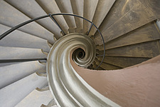 Close up Perspective looking down a spiral Staircase in Bamberg, Bavaria, Germany - 40055-1430-1