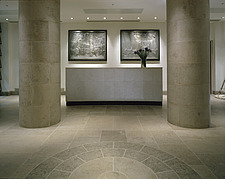 Marble hall and reception in corporate headquarters with modern interior - 505-260-1