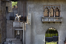 An exterior view of a historic building and museum in Verona in Italy, called Museo Civico di Castelvecchio - 15406-140-1