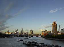 River Thames at dusk  London - 15384-510-1
