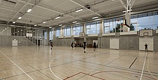 The new sports hall for Campus Ringsted, south of Copenhagen utilizes the enormous potential to orchestrate various functions in one contemporary arch... - 16247-100-1