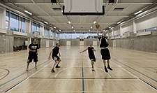 The new sports hall for Campus Ringsted, south of Copenhagen utilizes the enormous potential to orchestrate various functions in one contemporary arch... - 16247-110-1