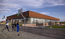 The new sports hall for Campus Ringsted, south of Copenhagen utilizes the enormous potential to orchestrate various functions in one contemporary arch... - 16247-50-1