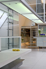 Modern white home with overhead lighting - 11532-40-1