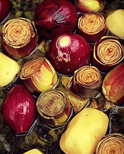 Roasted red onions and globe artichokes - 16407-120-1