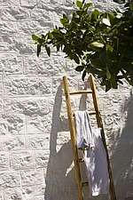 Ladder against stone wall - 16440-530-1