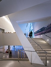 Interior view of the Contemporary Jewish Museum in San Francisco USA by Daniel Libeskind architects - 16746-60-1