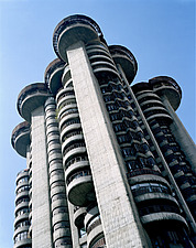 Torres Blancas Brutalist cylindrical tower block - 10764-20-1