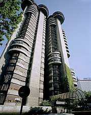 Torres Blancas Brutalist cylindrical tower block - 10764-70-1