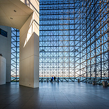 Interior view of JFK Presidential Library and Museum in Boston  - 16798-110