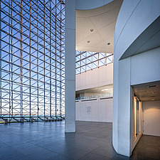 Interior view of JFK Presidential Library and Museum in Boston  - 16798-120