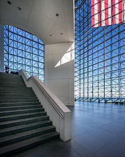 Interior view of JFK Presidential Library and Museum in Boston  - 16798-140