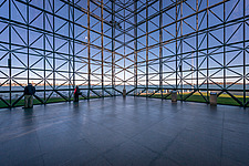 Interior view of JFK Presidential Library and Museum in Boston  - 16798-160