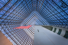 Interior view of JFK Presidential Library and Museum in Boston  - 16798-190