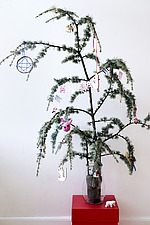 Fir tree branch with natural  Christmas decorations - 16850-170