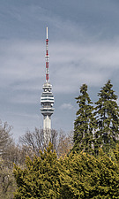 The Avala telecommunications tower, on mount Avala, outside Belgrade, Serbia - 16856-610