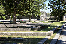 Headstones in Kampor Memorial Cemetery on Rab Island, in Croatia, designed by Edvard Ravnikar and completed in 1953 - 16856-700