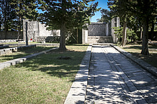 The central path of Kampor Memorial Cemetery on Rab Island, in Croatia, designed by Edvard Ravnikar and completed in 1953 - 16856-720