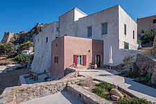 Exterior view of Kythera Castle Studio in Kythera island Greece by architects R - 16857-10