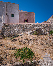 Exterior view of Kythera Castle Studio in Kythera island Greece by architects R - 16857-110