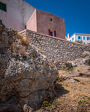 Exterior view of Kythera Castle Studio in Kythera island Greece by architects R - 16857-120