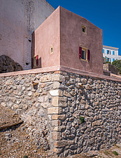 Exterior view of Kythera Castle Studio in Kythera island Greece by architects R - 16857-130
