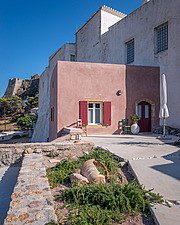 Exterior view of Kythera Castle Studio in Kythera island Greece by architects R - 16857-50