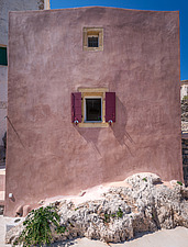Exterior view of Kythera Castle Studio in Kythera island Greece by architects R - 16857-60