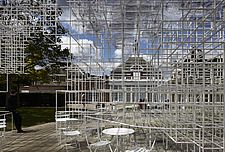 Temporary architectural installation, the Serpentine Pavilion 2013, Kensington Gardens, London, England, UK - 14858-10-1