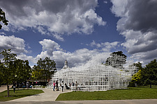Temporary architectural installation, the Serpentine Pavilion 2013, Kensington Gardens, London, England, UK - 14858-20-1