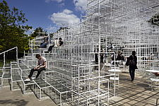 Temporary architectural installation, the Serpentine Pavilion 2013, Kensington Gardens, London, England, UK - 14858-50-1