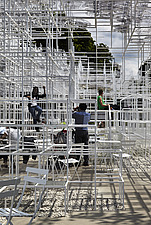 Temporary architectural installation, the Serpentine Pavilion 2013, Kensington Gardens, London, England, UK - 14858-70-1