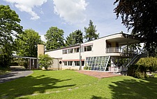 Modernist, Bauhaus style house by Hans Scharoun 1930-33, after 2012 renovation, Lusatia, Germany - 40085-1290-1