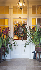 Annoushka Ducas home in Chichester showing Christmas decorations on her front door - 14877-320-1