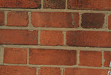 Close up of a red bricks and mortar wall with Flemish bond - 10639-10-1