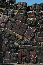 Close up of a patchwork brick wall - 10639-150-1