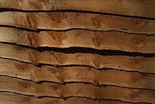 Close up of a larch lap fencing panel - 10639-310-1