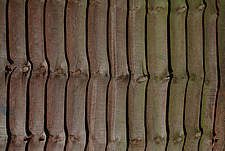 Close up of a larch lap fence - 10639-330-1