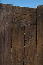 Close up of a chunky wooden gate - 10639-390-1