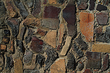 Close up of crazy brick and cobble wall - 10639-450-1