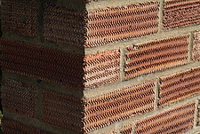 Close up of a surface patterned brick wall - 10639-50-1
