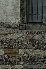 Detail of flint and stone wall  - 10639-550-1