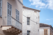 Exterior detail of apartment renovation at the historic centre of Nafplio, Greece  - 16941-140