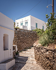 Exterior view of vernacular house renovation in Sifnos island Greece by Katerina Komi - 16942-10