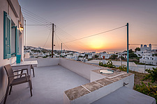 Exterior view at sunrise of vernacular house renovation in Sifnos island Greece by Katerina Komi - 16942-250
