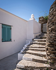 Exterior view of vernacular house renovation in Sifnos island Greece by Katerina Komi - 16942-60