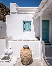 Exterior view of vernacular house renovation in Sifnos island Greece by Katerina Komi - 16942-80