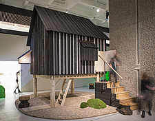 External views of the Tea House by Terunobu Fujimori, exhibited as part of the Japanese House: Architecture and Life after 1945 exhibition at the Barb... - 16955-20